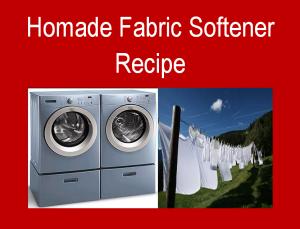 Homemade Fabric Softener Recipe