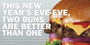 Hardees Buy 1 get 1 FREE Printable coupon