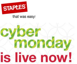 Staples Cyber Monday Sale 2013