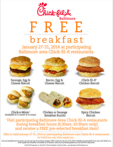 Chick Fil A Coupons