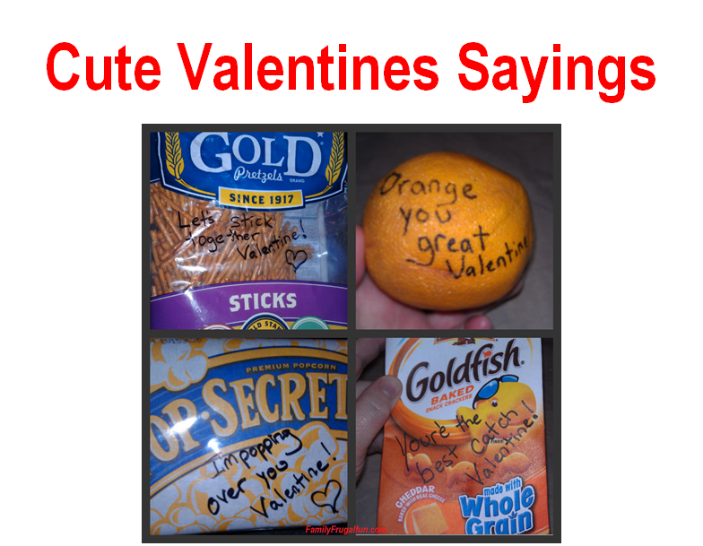 cute valentines day sayings - Clever Valentine Sayings