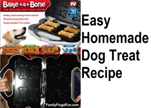 Dog Homemade treat recipe