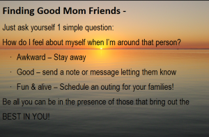 Finding Good Mom Friends