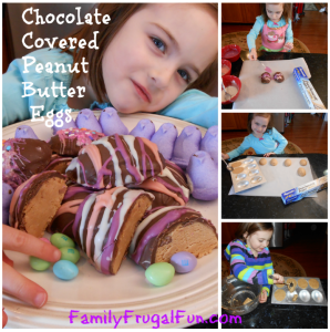 DIY Chocolate Covered Peanut Butter Easter Eggs