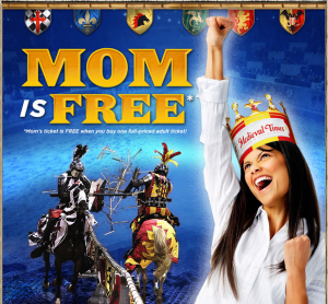 Medieval times discount Mother's Day package