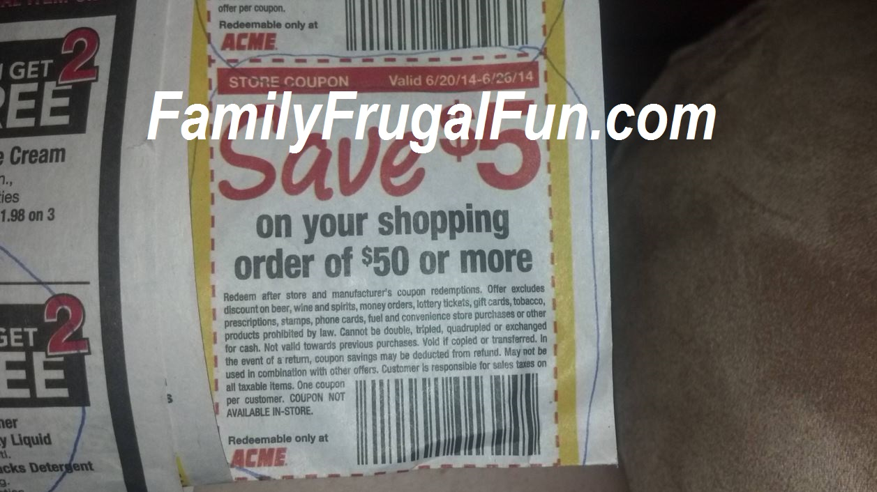 Acme online coupons