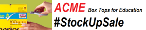 ACME #StockUpSale Box Tops for Education