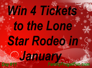 12 Days of Christmas Family Frugal Fun Lone Star Rodeo Tickets