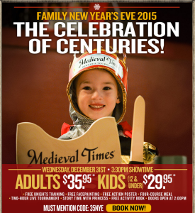Medieval Times discount New Year package for families