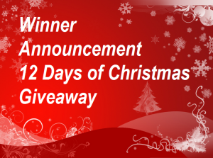 Winner Announcement 12 Days of Christmas