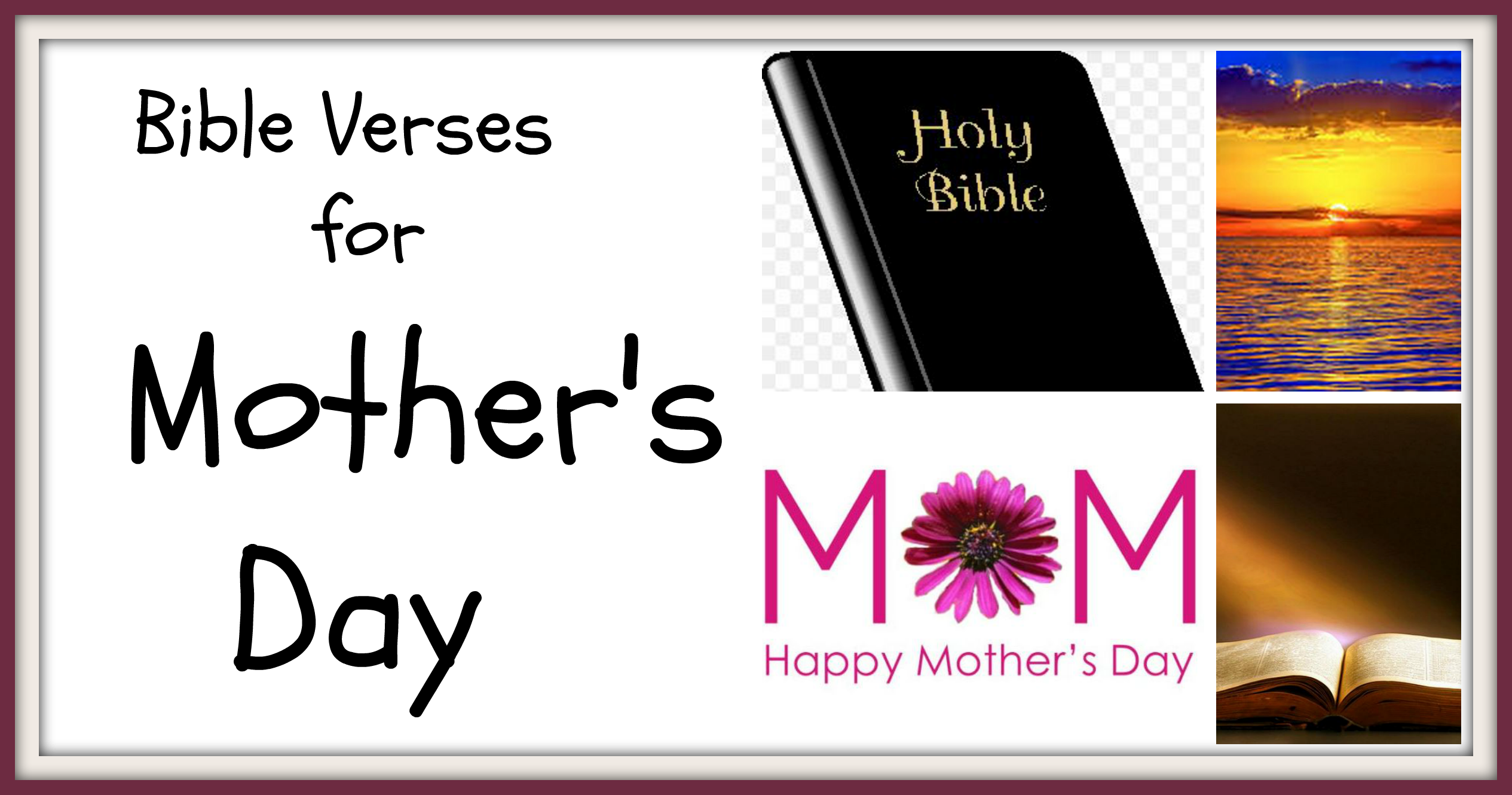 Bible Quotes About Mothers Bible Verses For Mother's Day  Family Finds Fun