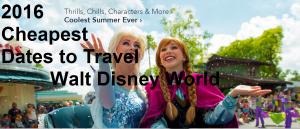 2016 Dates Walt Disney World Vacation on a Tight Budget