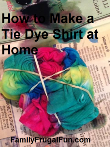 How to make a tie dye shirt at home family finds fun for How to make a tie back shirt