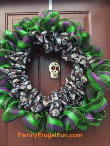 Easy homemade Halloween wreath ideas