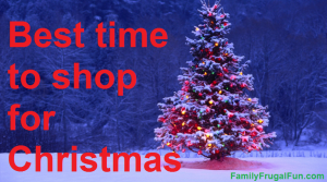 Best time to Shop for Christmas