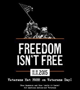 Mission BBQ FREE Veterans Day Food