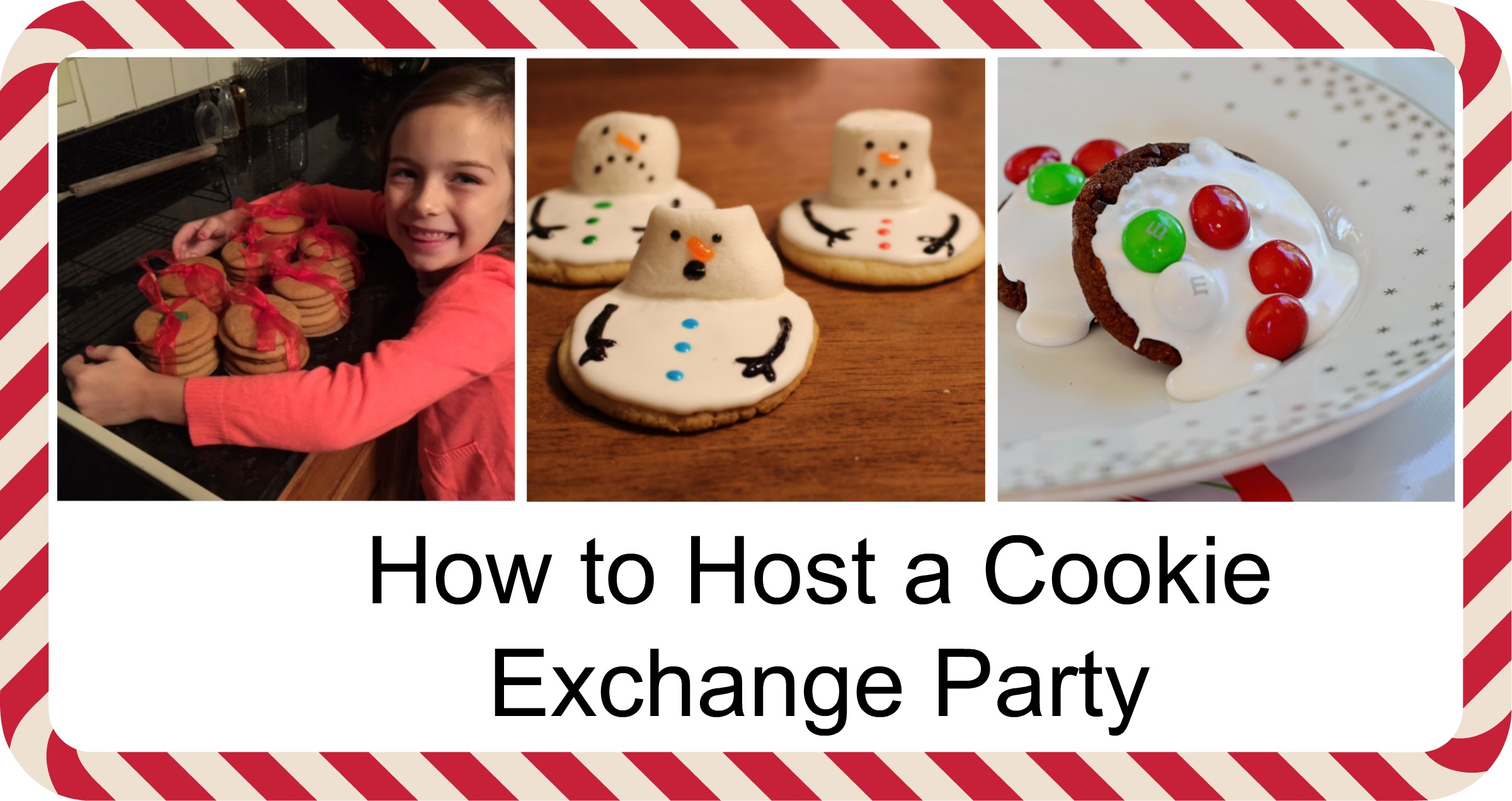 Holiday Cookie Exchange Checklist You bake one kind of cookie, you end up with a flavorful assortment to last through the holidays―that's the idea behind a cookie exchange.