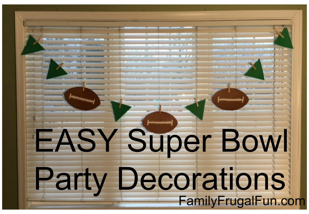 Easy Super Bowl Party Decorations