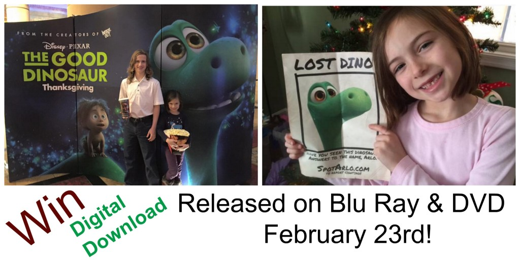 The Good Dinosaur on DVD & Blu Ray
