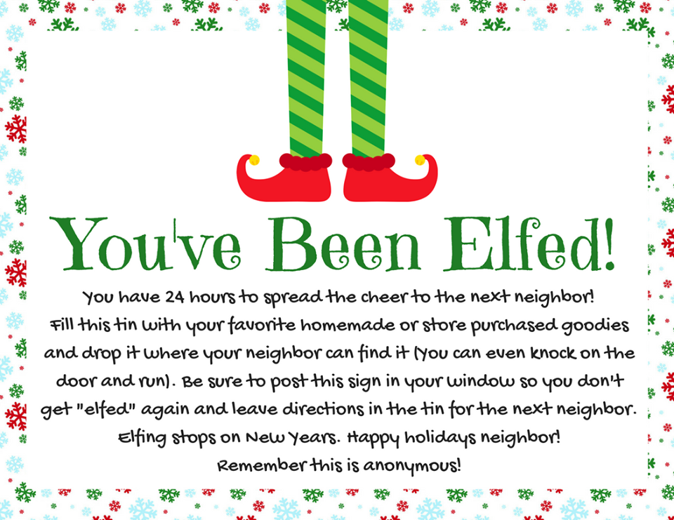 photo relating to You've Been Elfed Free Printable named How in the direction of Elf Your Neighbor Relatives Reveals Enjoyment